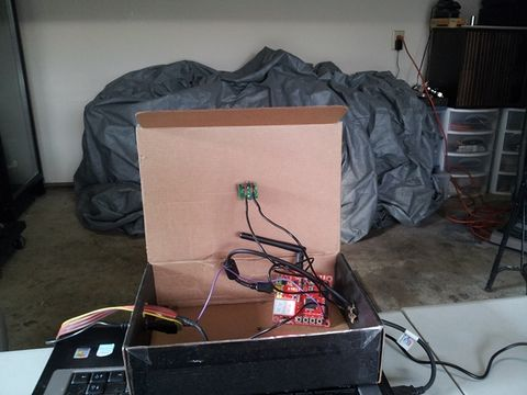 Early stage testing of ultrasonic rangefinder and ADC